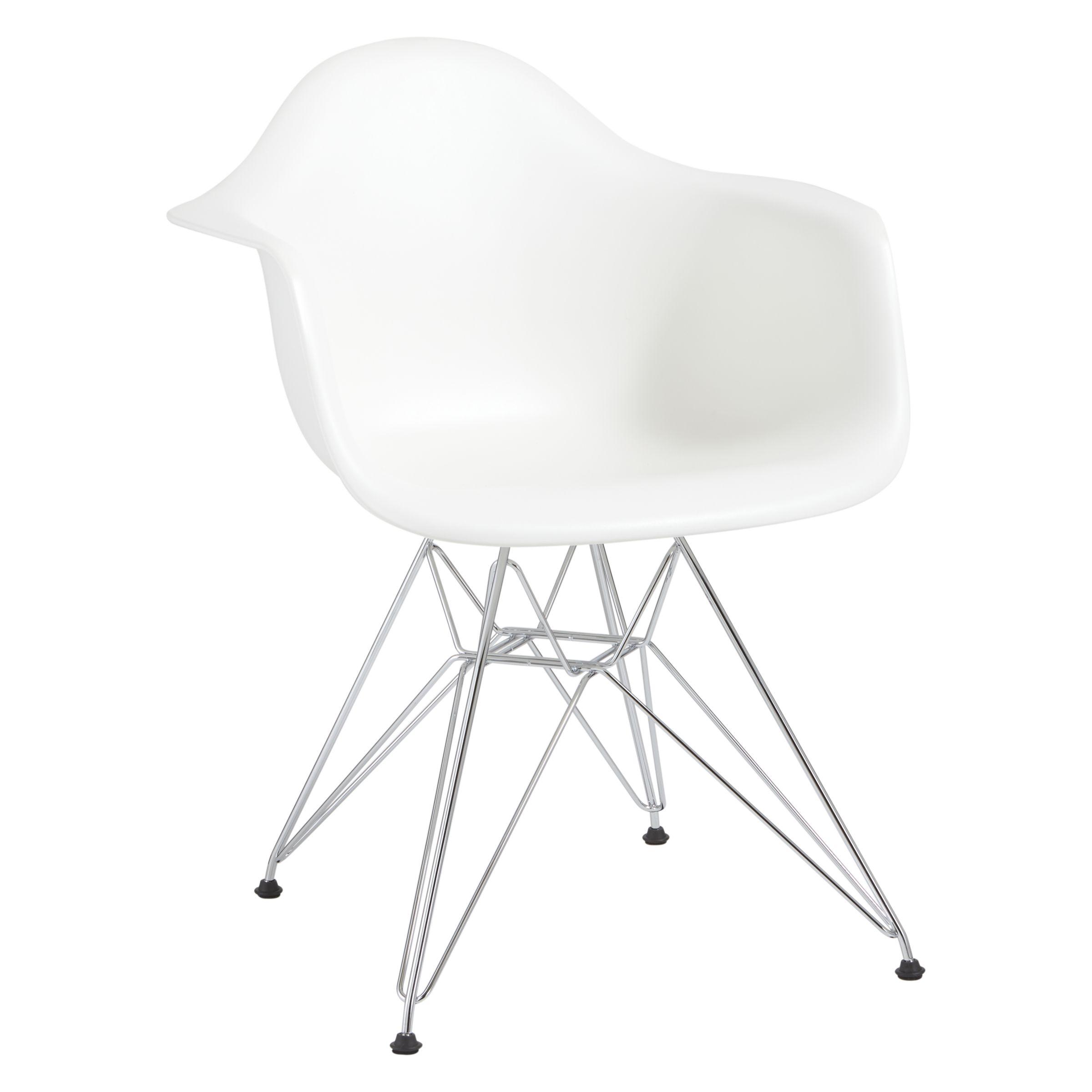 Vitra Vitra Eames DAR Armchair, Chrome Leg