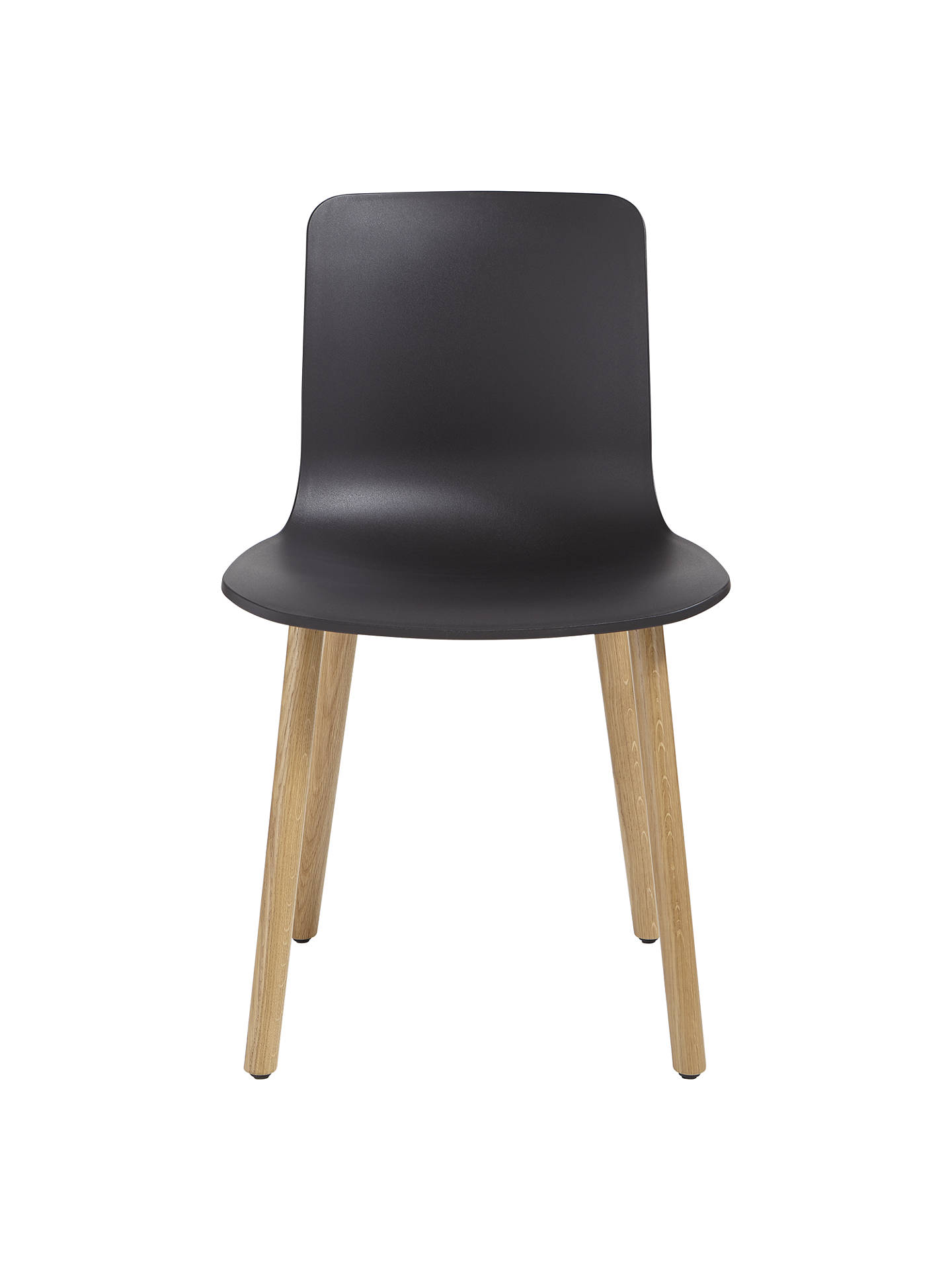 BuyVitra HAL Chair, Light Oak Leg, Black Online at johnlewis.com