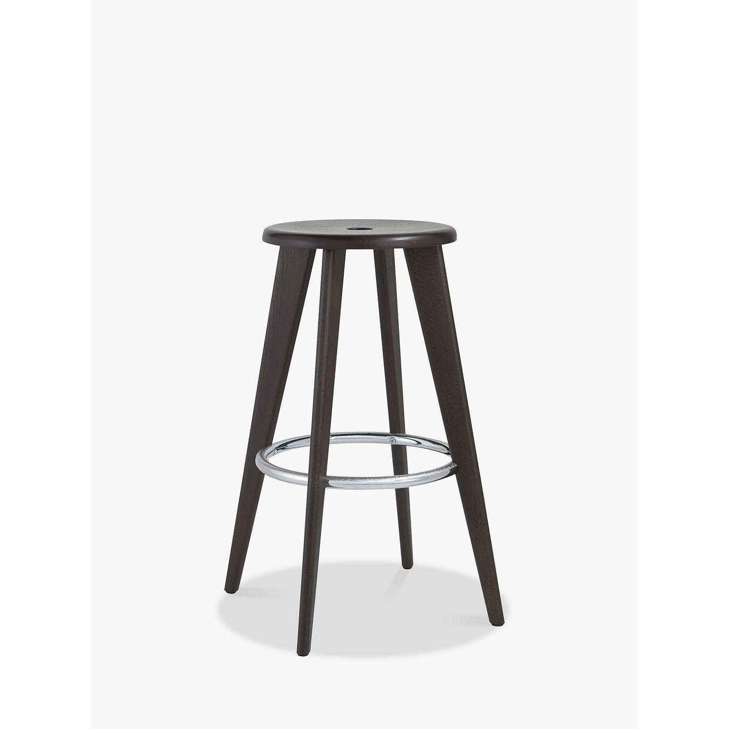 Vitra Tabouret Haut Bar Stool | Dark Oak at John Lewis