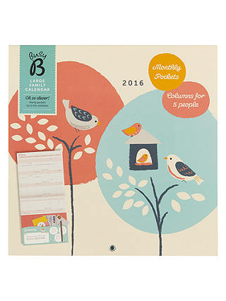 Buy Busy B Large Family Calendar Online at johnlewis.com