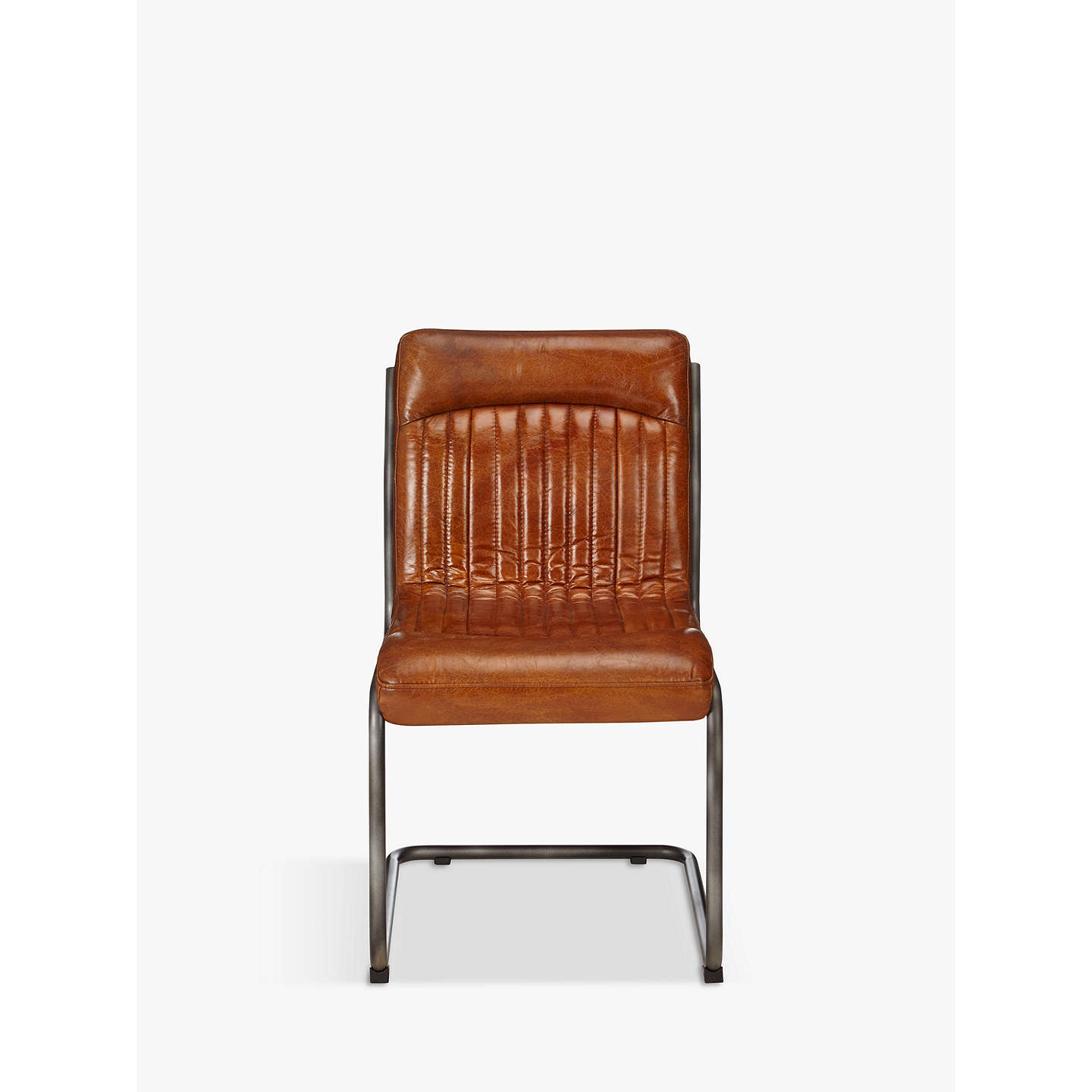BuyHudson Living Capri Leather Chair, Brown Online at johnlewis.com