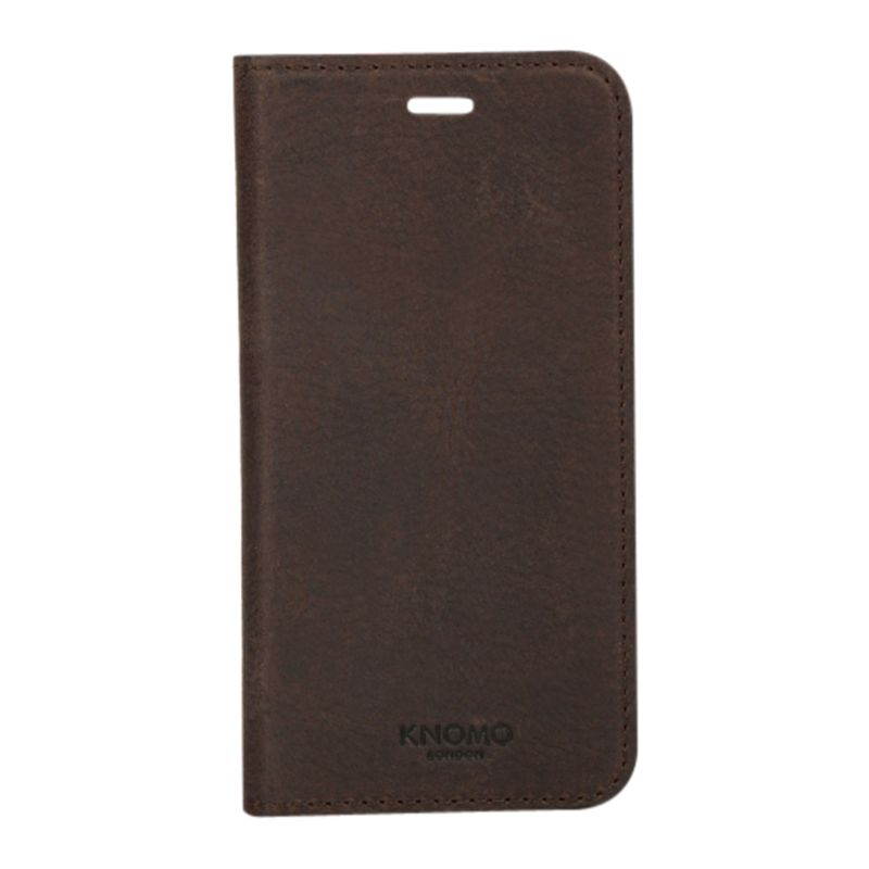 new concept f29ed ce2a6 Knomo Folio Case for iPhone 6 Plus, Brown at John Lewis & Partners