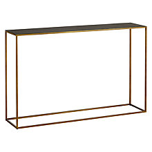 Buy Content by Terence Conran Black Enamel Console Table Online at johnlewis.com