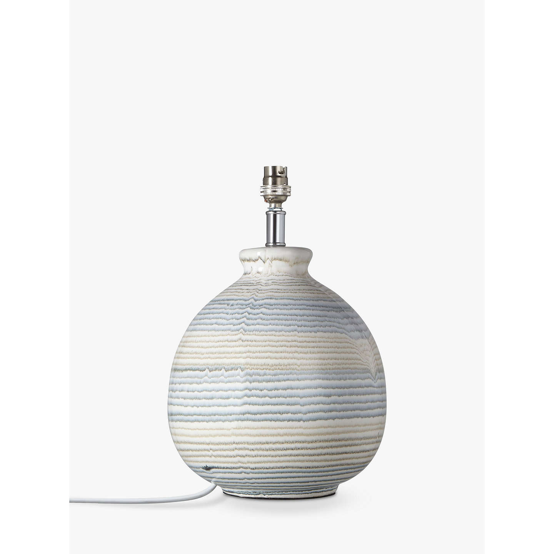 John Lewis Enya Striped Ceramic Lamp Base At John Lewis