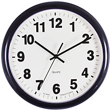 Buy John Lewis The Basics Wall Clock, Diameter 25.5cm Online at johnlewis.com