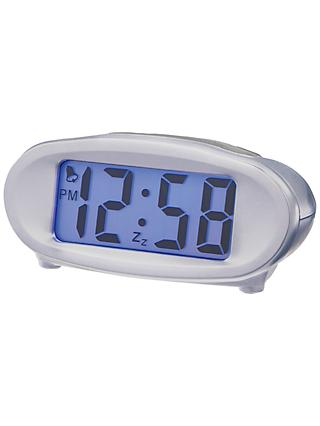 Acctim Eclipse Solar Dual Power Smartlite® Alarm Clock, Silver