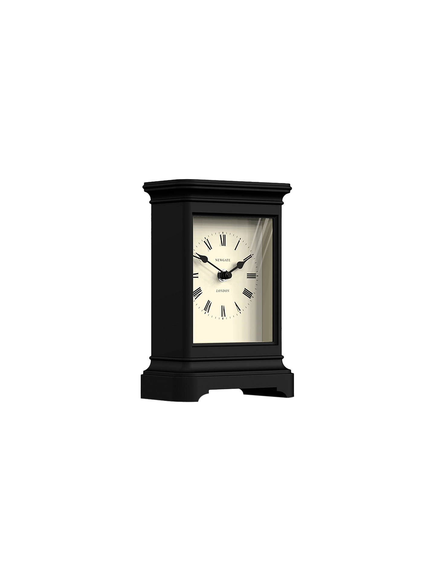 BuyNewgate Library Mantel Clock, Black Online at johnlewis.com