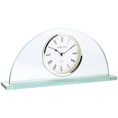 London Clock Company Half Moon Mantel Clock, Glass