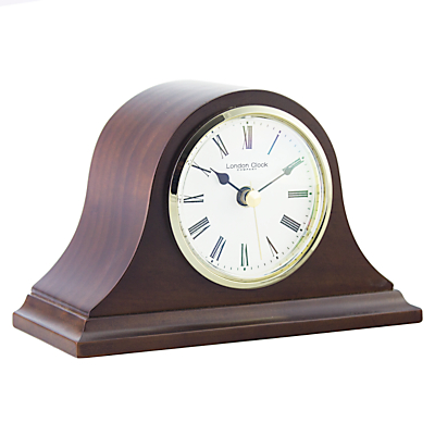 London Clock Company Solid Wood Mantel Clock, Small