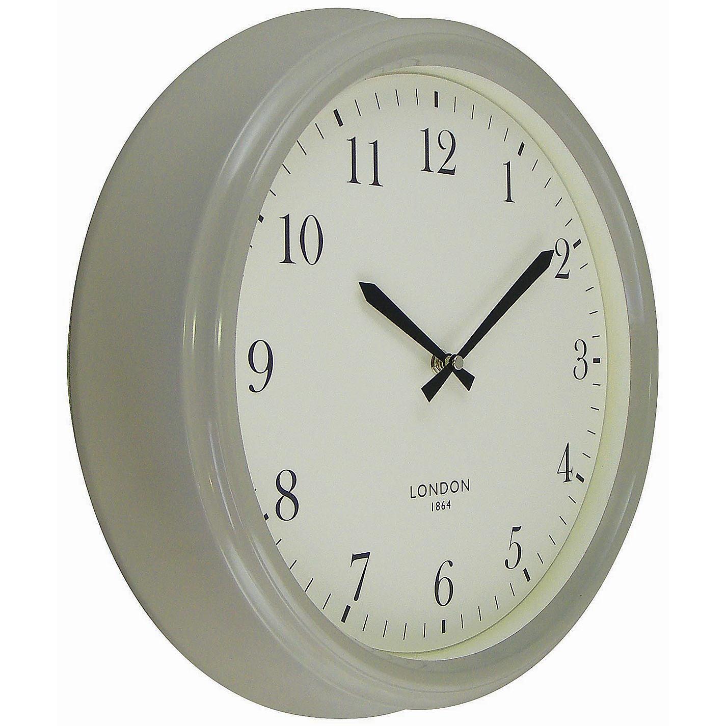 buy john lewis croft tunbridge wall clock putty grey online at