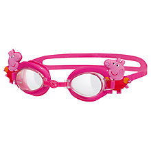 Buy Zoggs Peppa Pig Adjustable Swimming Goggles, Pink Online at johnlewis.com
