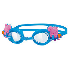 Buy Zoggs George Pig Adjustable Goggles, Blue Online at johnlewis.com