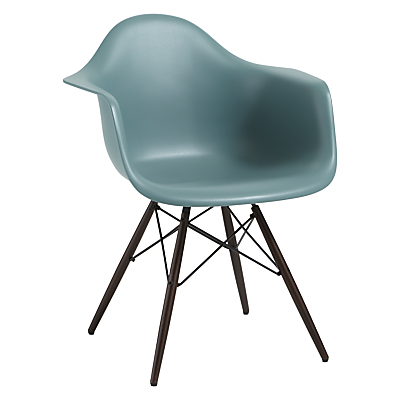 Vitra Eames DAW Armchair, Dark Maple Leg
