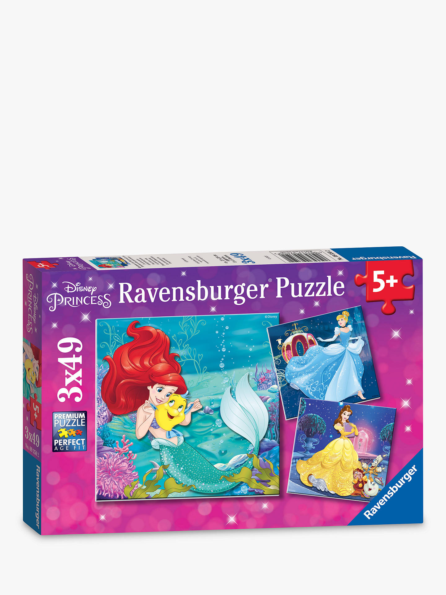 Ravensburger Disney Princess Jigsaw Puzzles, Box of 3