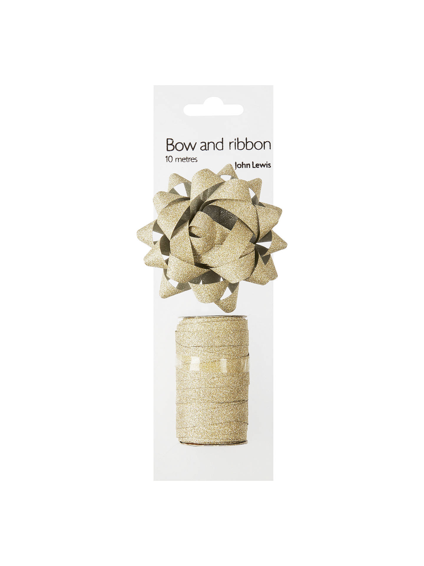Buy John Lewis & Partners Gift Bow and Curling Ribbon Set, Gold Online at johnlewis.com