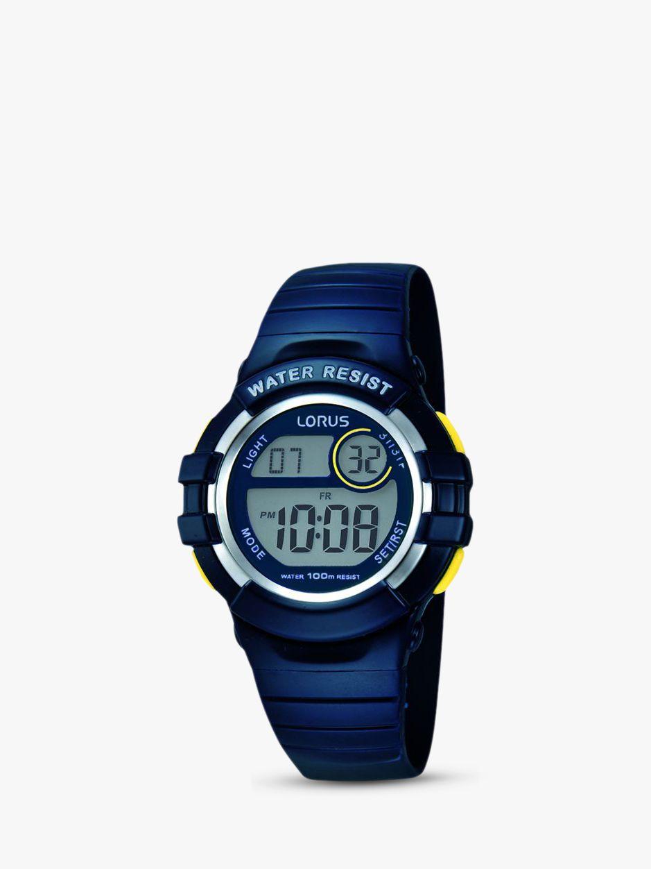 Lorus Lorus Children's Digital PU Rubber Strap Watch