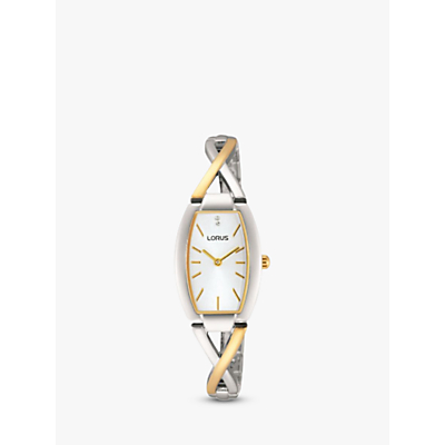 Product photo of Lorus rrw51ex9 women s two tone bracelet strap watch gold silver