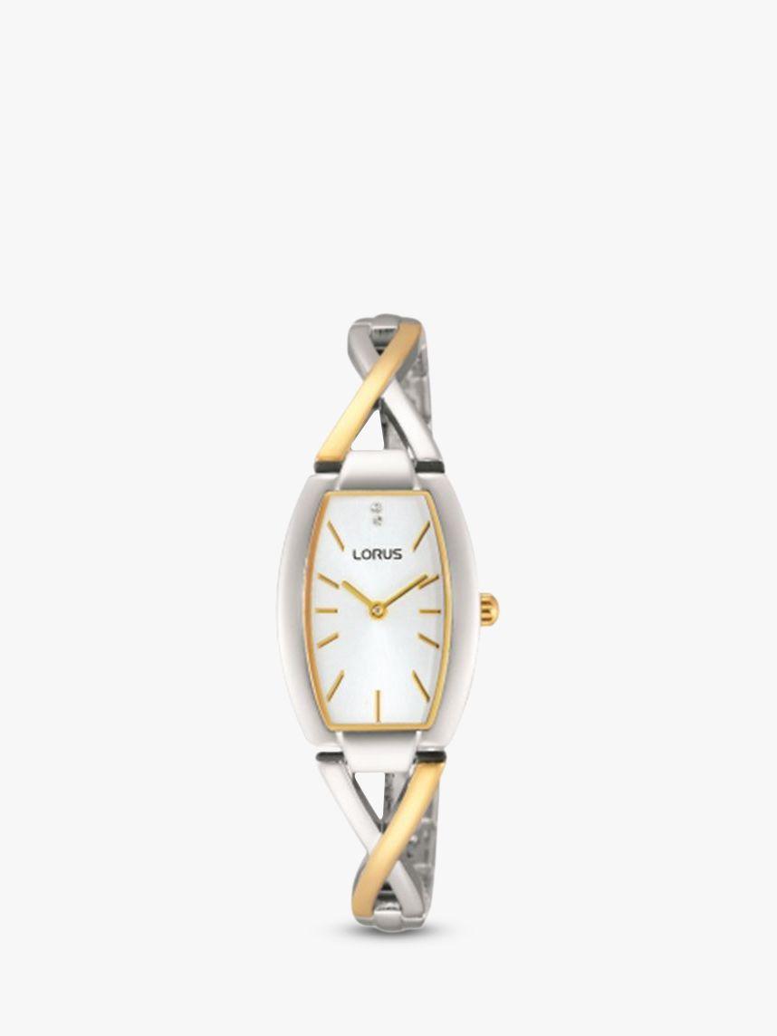Lorus Lorus RRW51EX9 Women's Two Tone Bracelet Strap Watch, Gold/Silver