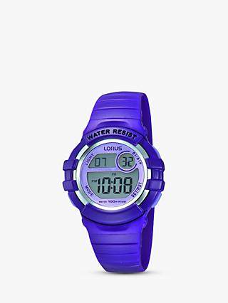 Lorus Children's Digital PU Rubber Strap Watch