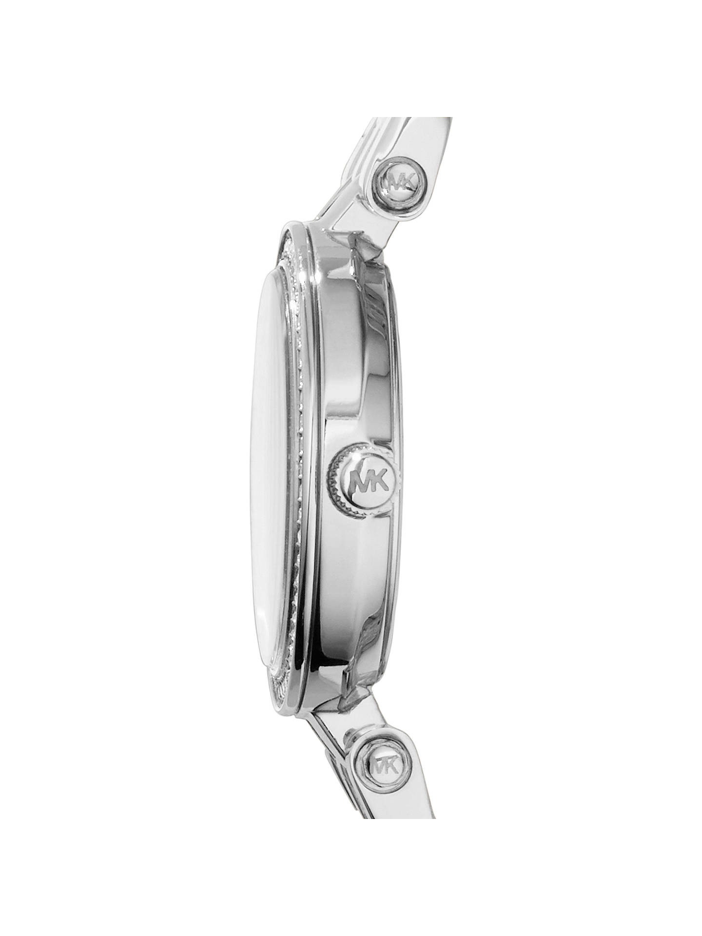 Buy Michael Kors MK3294 Women's Darci Petite Stainless Steel Crystal Bracelet Strap Watch, Silver Online at johnlewis.com