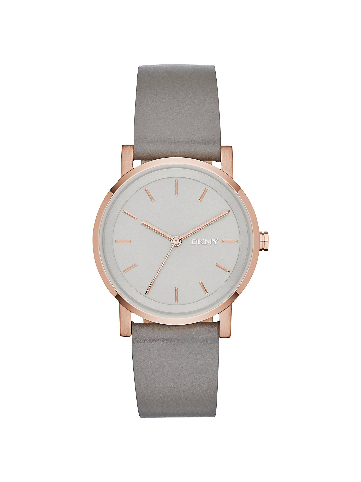 Buy DKNY NY2341 Women's SoHo Leather Strap Watch, Grey Online at johnlewis.com