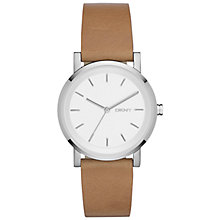 Buy DKNY NY2339 Women's SoHo Leather Strap Watch, Brown/White Online at johnlewis.com