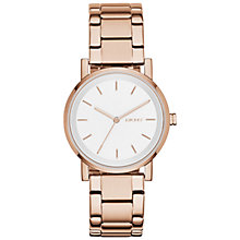 Buy DKNY NY2344 Women's SoHo Bracelet Strap Watch, Rose Gold/White Online at johnlewis.com