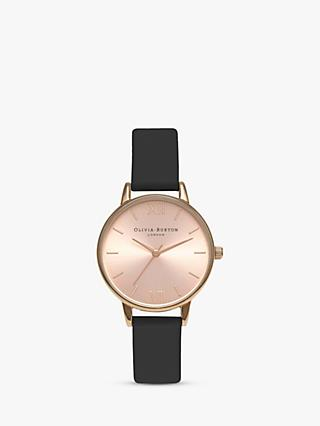 Olivia Burton Women's Midi Dial Leather Strap Watch
