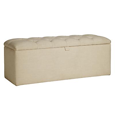 John Lewis Royale II Ottoman Blanket Box, Hera Beige