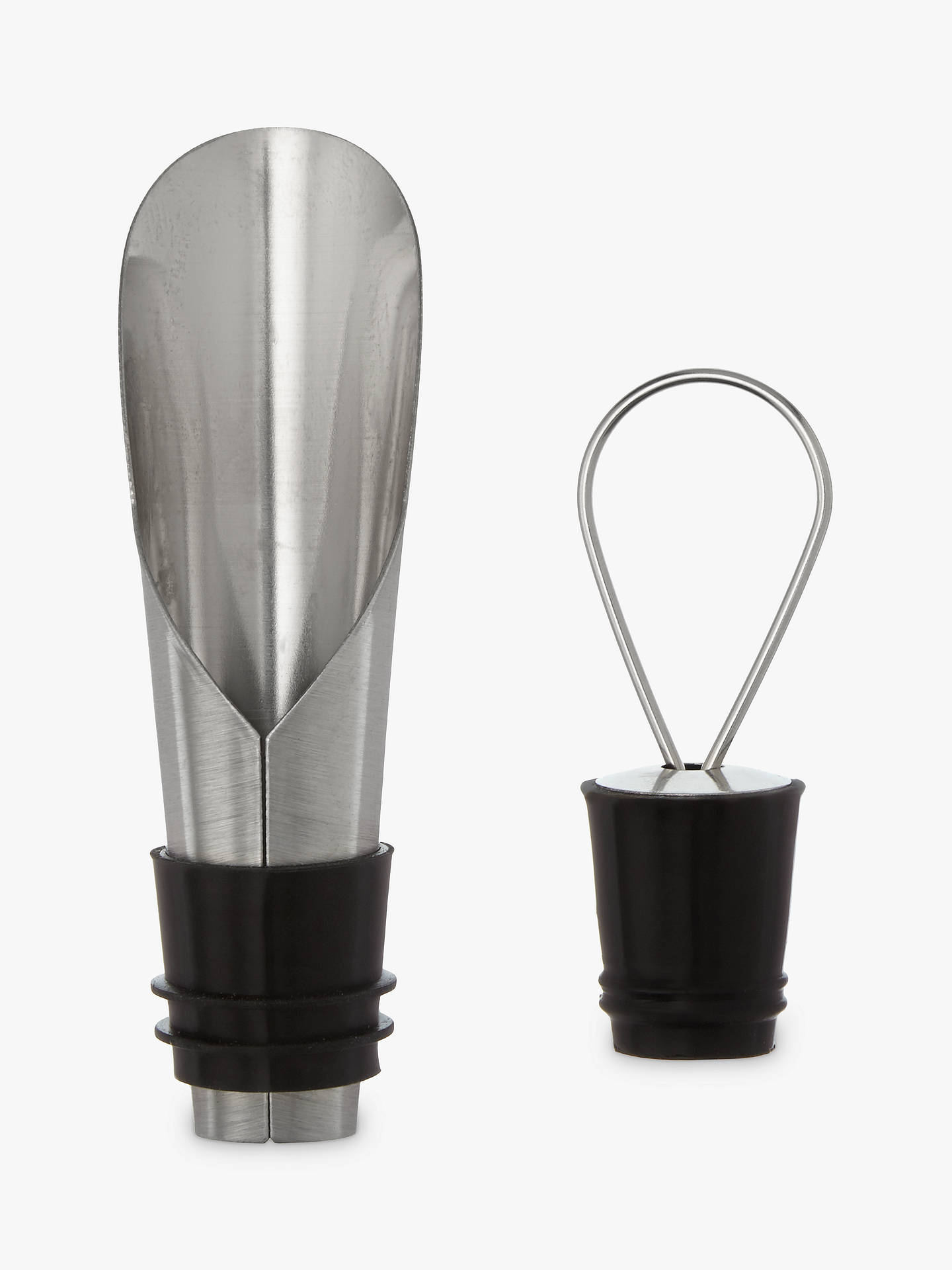Buy John Lewis & Partners Wine Pourer and Stopper Set Online at johnlewis.com
