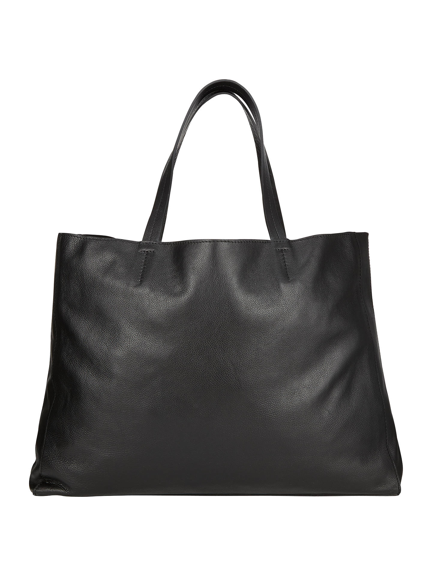 d9ad045a5b0 Buy Collection WEEKEND by John Lewis Morgan Raw Edge Leather Tote Bag,  Black Online at