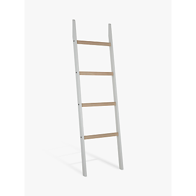 Croft Collection Blakeney Leaning Shelf Ladder, Light Silver