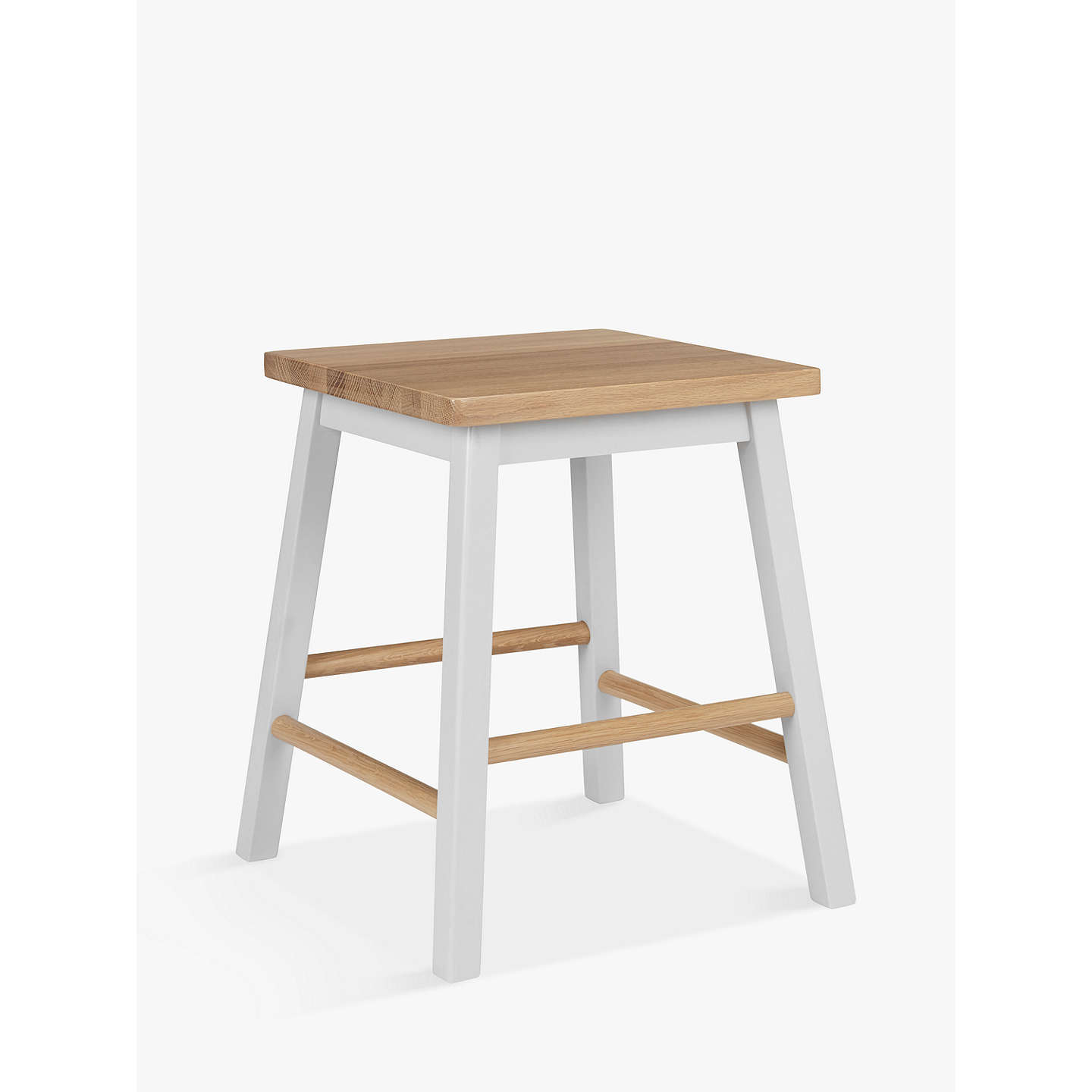 Kitchen Stools At John Lewis: Croft Collection Blakeney Bathroom Stool. Light Silver At