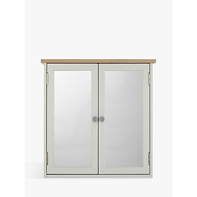 Croft Collection Blakeney Double Mirrored Bathroom Cabinet. Light Silver