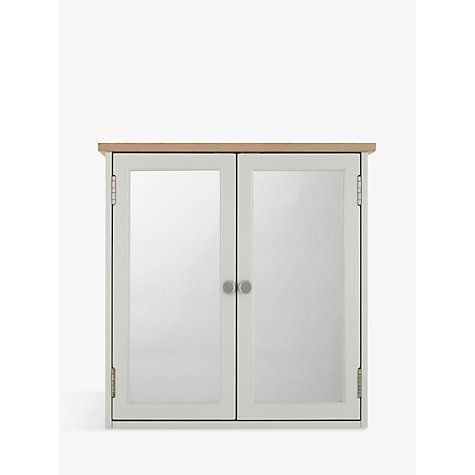 Buy John Lewis Croft Collection Blakeney Double Mirrored Bathroom Cabinet.  Light Silver Online At Johnlewis ...