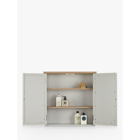 ... Buy John Lewis Croft Collection Blakeney Double Mirrored Bathroom  Cabinet. Light Silver Online At Johnlewis