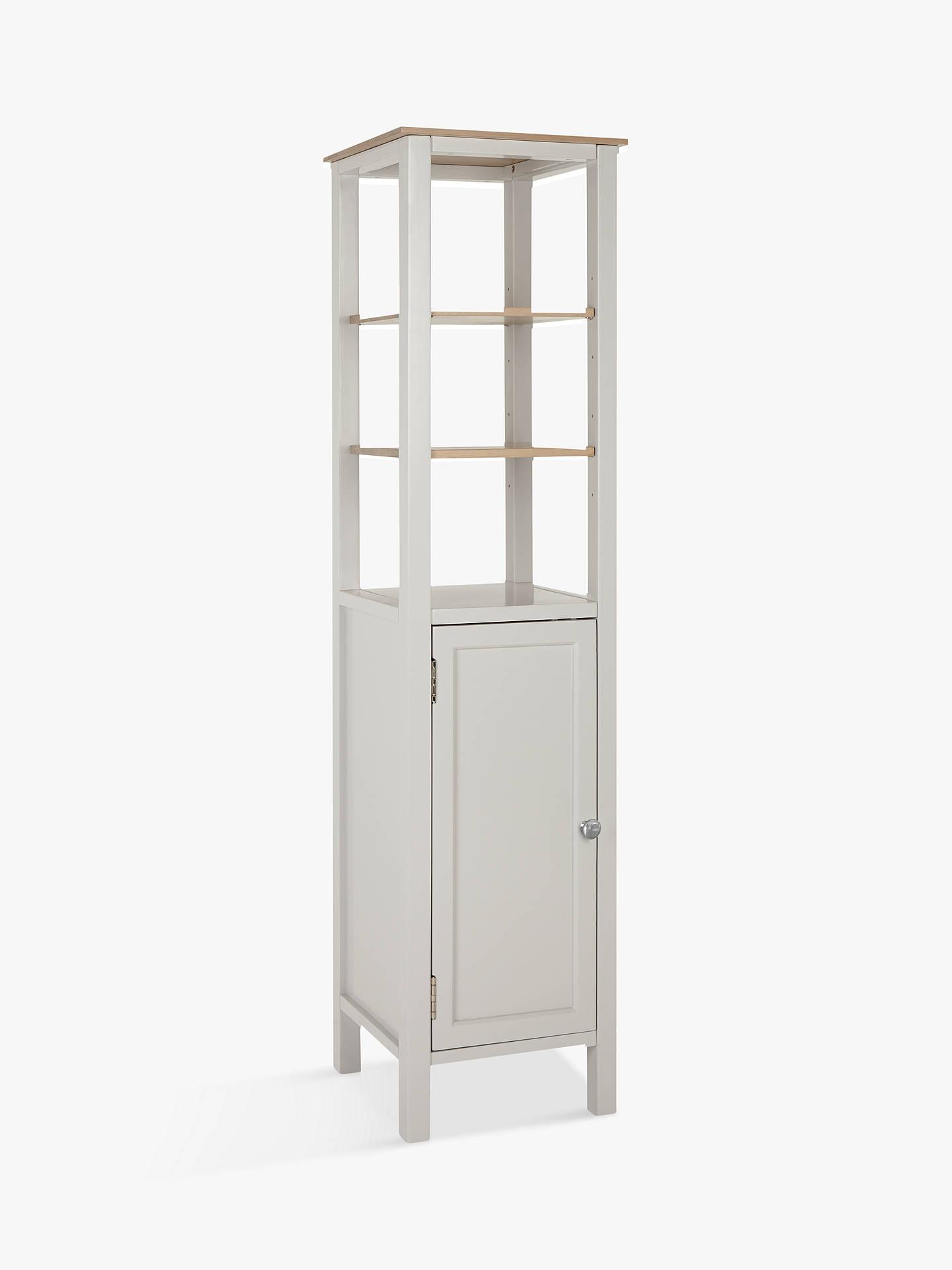 BuyCroft Collection Blakeney Single Bathroom Tallboy, Light Silver Online at johnlewis.com ...
