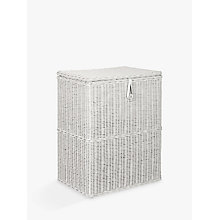 Buy Croft Collection Double Linen Basket, Grey Online at johnlewis.com