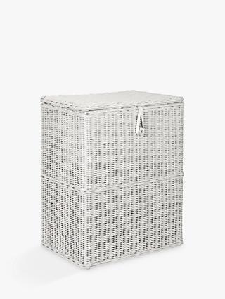 Croft Collection Double Linen Basket Grey
