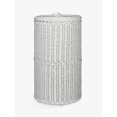 Croft Collection Rattan Round Laundry Bin, Grey