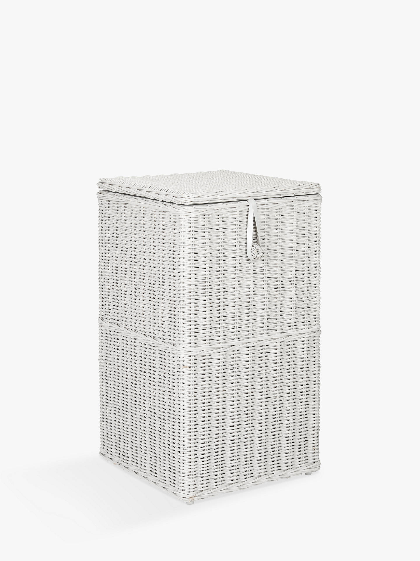 Croft Collection Rattan Square Linen Bin Grey Online At Johnlewis