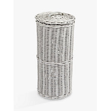 Buy John Lewis Croft Collection Rattan Toilet Roll Holder, Grey Online at johnlewis.com