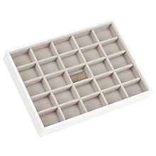 Buy Stackers Jewellery 25-section Tray, White Online at johnlewis.com