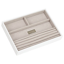 Buy Stackers Jewellery 4-section Tray, White Online at johnlewis.com