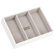 Buy Stackers Jewellery 3-section Tray, White Online at johnlewis.com