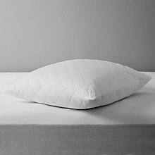 Buy John Lewis Natural Cotton Quilted Square Pillow Protector Online at johnlewis.com