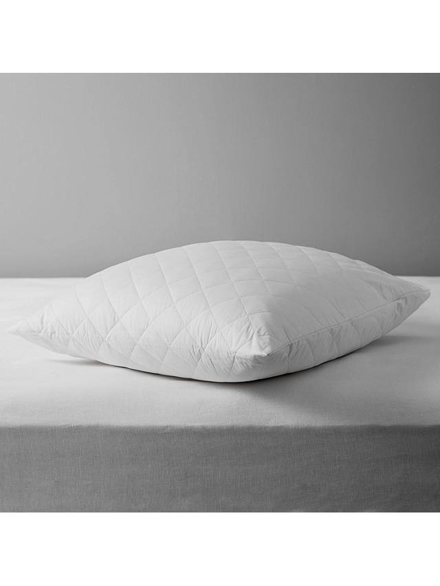 Buy John Lewis & Partners Natural Cotton Quilted Square Pillow Protector Online at johnlewis.com