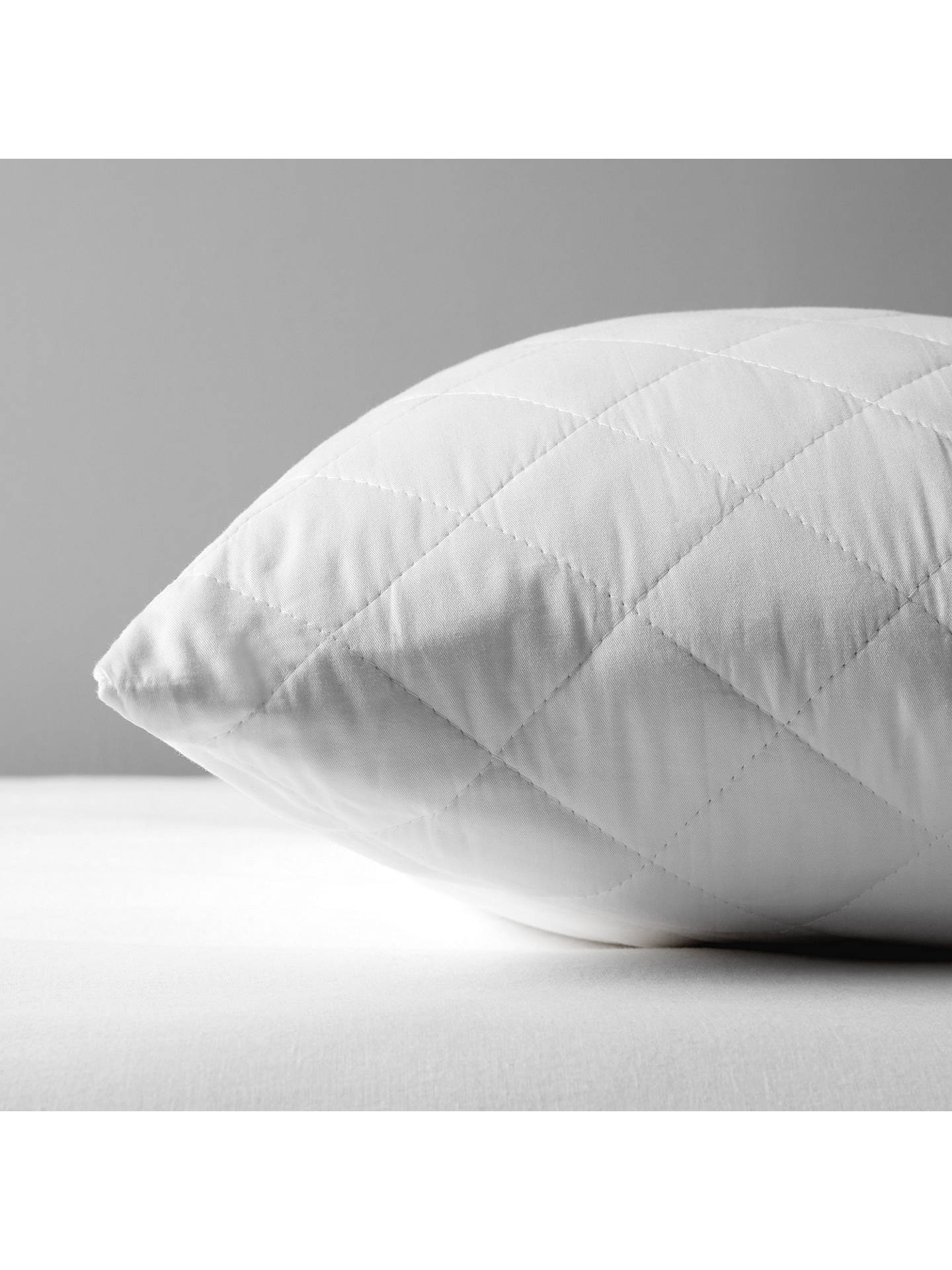 BuyJohn Lewis & Partners Natural Cotton Quilted Kingsize Pillow Protector Online at johnlewis.com