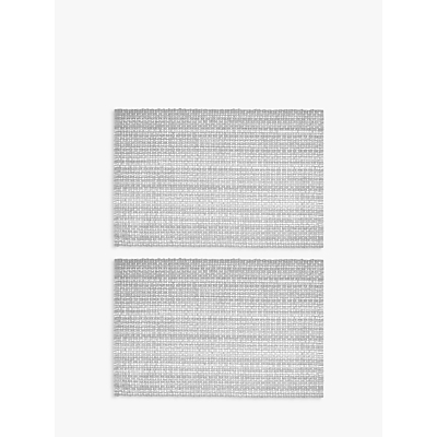 Croft Collection Tetbury Placemats, Set of 2, Grey