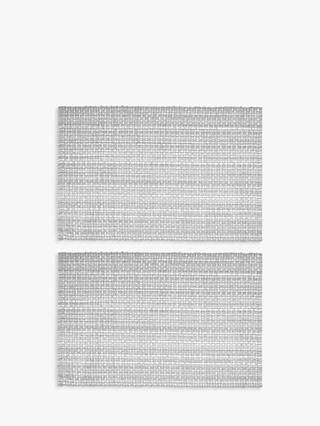 John Lewis & Partners Cotton Placemats, Set of 2, Grey